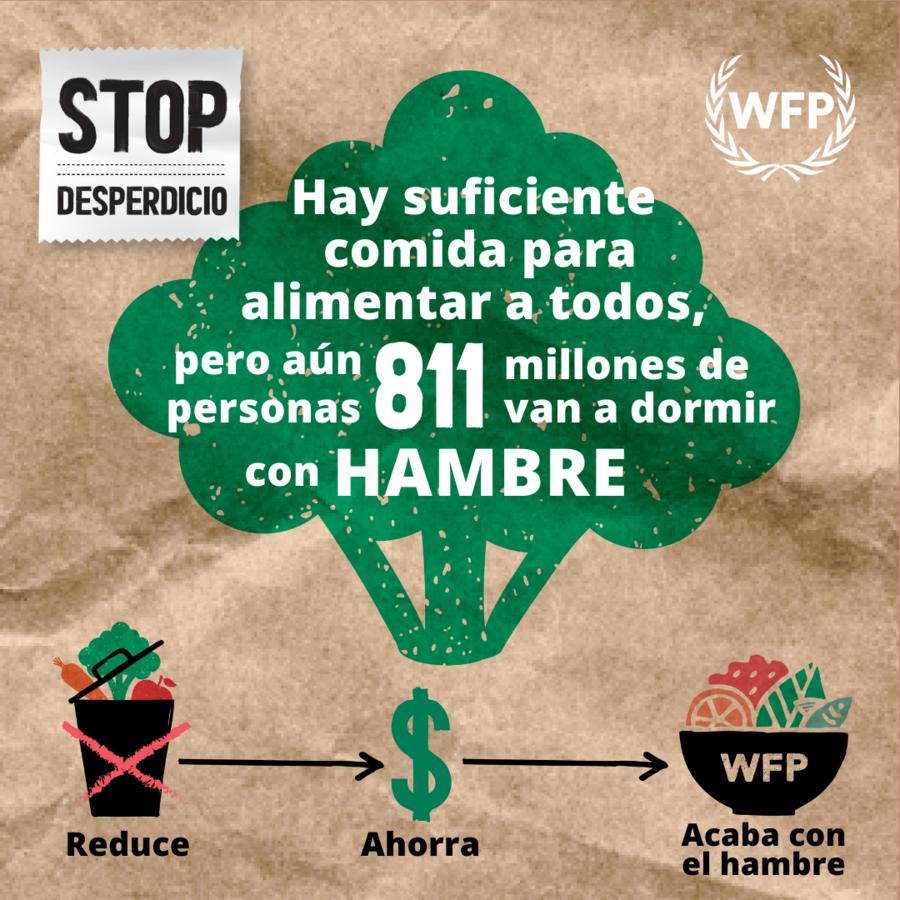 WFP -  Twitter social media Spanish card Brocoli