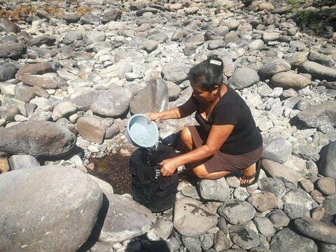 La sequía se llevó un río en Honduras