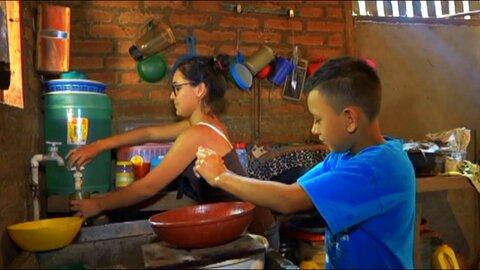 Un acueducto trae agua a una comunidad nicaragüense del Corredor Seco