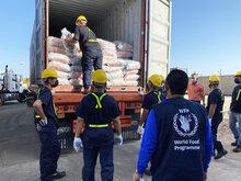 Llegan a Venezuela primeras provisiones de alimentos de WFP para comidas escolares
