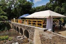 Unión Europea, MARN, Alcaldía y WFP inauguran puente en Jiquilisco, El Salvador