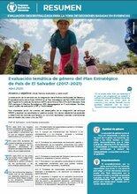 Evaluaciones descentralizadas de proyectos del WFP en América Latina y el Caribe