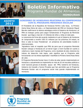 Honduras: boletines informativos mensuales del 2012