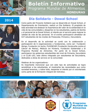 Honduras: boletines informativos mensuales del 2014