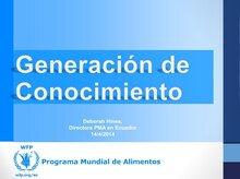 Ecuador: PMA presentó impacto de las transferencias no monetarias
