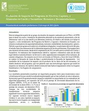 Ecuador: Evaluación de Impacto del Programa de Efectivo, Cupones, y Alimentos