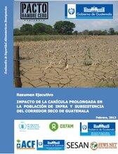 Guatemala: impacto de la canícula prolongada en la población de infra y subsistencia del Corredor Seco