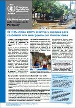 El PMA utiliza la transferencia de efectivo y cupones para responder a la emergencia por inundaciones en Paraguay