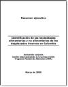 Identificación de las necesidades alimentarias y no alimentarias de los desplazados internos en Colombia