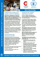 Colaboración continua de España y el Programa Mundial de Alimentos en Palestina