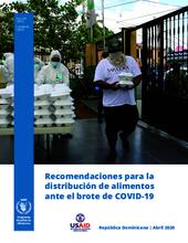 Guía para la distribución de alimentos ante el brote de COVID-19 en la República Dominicana