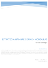 2017 - Strategic Review - Honduras