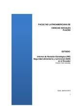 2015 - Strategic Review - Ecuador